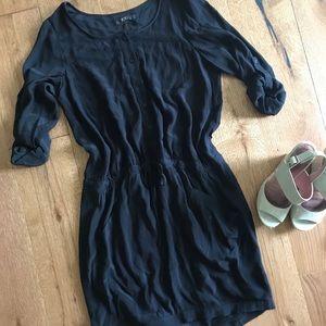 BCBG black midi length dress